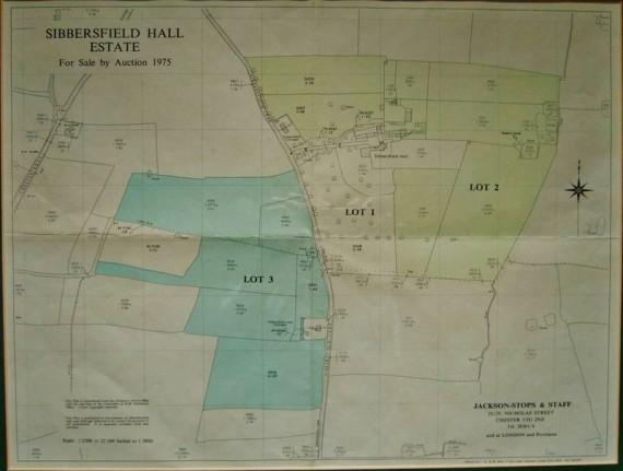 Map showing the division of the Sibbersfield estate
